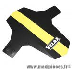 Garde boue VTT avant colori noir/jaune fourche fixation ryslan marque Vélox - Pièce Vélo