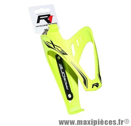 Porte bidon x3 jaune fluo gomme marque Race One - Accessoire Vélo