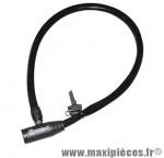 Antivol vélo cable a clé éco l 65cm - Accessoire Vélo Pas Cher