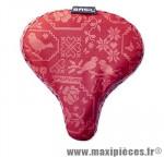 Couvre selle bohème vintage rouge (28x23 cm) marque Basil - Matériel pour Cycle