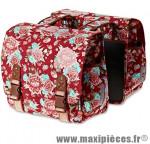 Sacoche arrière city bloom rouge (35 litres) fixation crochet/ressort (43x28x30 cm) marque Basil - Matériel pour Cycle