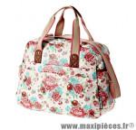 Sac city bloom blanc (18 litres) fixation hook-on sur porte bagage avant/arrière (32x10x25 cm) marque Basil - Matériel pour Cycle