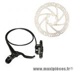 Frein a disque VTT hydraulique auriga noir avant post mount avec disque et adaptateur (kit)