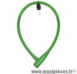 Antivol vélo Câble a clé silicone vert diam 12mm l75cm (protège la peinture des chocs) - Pièces Vélo Newton