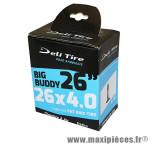 Chambre a air Vélo 26x3.50-4.00 valve presta (pour fatbike) - Pneus Vélo Deli Tire
