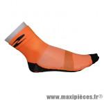 Socquette été coton orange 40-43 (paire)