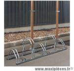 Garage 5 velos tubes renforces avec hauteur décalée (lg160xl40xh26-43cm) produit français