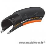 Pneu route 700 x 23 ultra sport2 noir-orange 250 grammes 180tpi ts (23-622) - Pneus et Pièces Vélo Continental