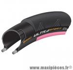 Pneu route 700 x 23 ultra sport2 noir-rose 250 grammes 180tpi ts (23-622) - Pneus et Pièces Vélo Continental
