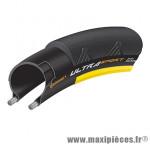 Pneu route 700 x 23 ultra sport2 noir-jaune 320 grammes 180tpi tr (23-622) - Pneus et Pièces Vélo Continental