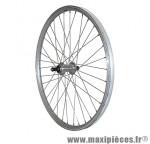 Roue VTT 24 pouces arrière alu argent double paroi moy alu blocage rl 7-6 vitesses - Roues et Pièces Vélo Vélox