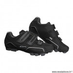 Paire de chaussures VTT taille 41 marque GES urko noir 3 velcros pour spd