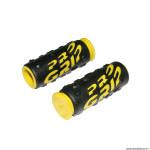 Paire de poignées vélo VTT 952 noir-jaune diamètre 22mm l85mm marque Progrip