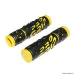 Paire de poignées vélo VTT 953 noir-jaune diamètre 22mm l122mm marque Progrip