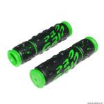 Paire de poignées vélo VTT 953 noir-vert diamètre 22mm l122mm marque Progrip