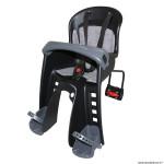 Porte bébé-siège enfant avant à fixer sur cadre bilby junior noir coussin gris (9 à 15kgs) marque Polisport