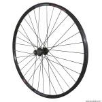 Roue vélo VTC 700x35 disc arrière m820 aluminium couleur noir moyeu pour shimano acera m3050 centerlock pour cassette shimano-sram 10-9 vitesses rayon inox marque Vélox *Prix Spécial !