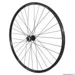 Roue vélo VTC 700x35 disc avant m820 aluminium couleur noir moyeu shimano rm66 centerlock rayon couleur noir marque Vélox