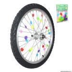 Décoration de roues multicolore à clipser sur rayon