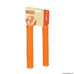 Paire de poignées vélo city-fixie extralong orange 175mm