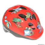 Casque vélo pour enfant taille 46-53 marque GES cheeky motors rouge système turnlock