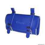 Sacoche de selle vélo style vintage classic simili cuir couleur bleu marque Vélox