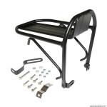 Porte bagage vélo avant noir alu noir réglable 26 à 29 pouces fixation sur tasseaux de frein
