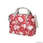 Sac vélo magnolia 18 litres poppy rouge fixation rapide hook-on (29x16x41cm) marque Basil