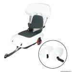 Porte bébé-siège enfant arrière à fixer sur porte bagage fixation etau guppy junior blanc coussin gris (6ans - jusqu'a 35 kgs) marque Polisport