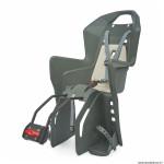 Porte bébé-siège enfant arrière à fixer sur cadre koolah gris coussin crème (9 à 22kgs) marque Polisport
