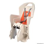 Porte bébé-siège enfant arrière à fixer sur porte bagage fixation etau koolah crème coussin orange (9 à 22kgs) marque Polisport