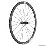 Roue vélo route 700 p1800-32 performance spline disc centerlock axe 12-142mm arrière cassette shimano-sram 11-10 vitesses couleur noir pneu 23-25mm (hauteur jante 32mm) marque DT Swiss