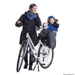 Poncho vélo pour thermique et deperlant opossum gris pour siège enfant arrière homologué de 9 à 22kgs marque Tucano Urbano