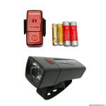 Eclairage vélo à pile kit aura 25 lux-cubic couleur noir marque Sigma