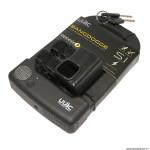 Antivol type U avec alarme sonore 125x200x35mm silicone noir clé (protège la peinture des chocs)