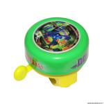 Sonnette vélo enfant timbre tortue ninja couleur vert 55mm