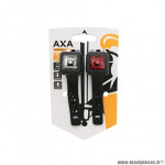 Eclairage vélo à pile kit sur cintre-tige de selle niteline leds noir (vu à 150m) marque Axa-Basta