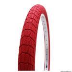 Pneu vélo BMX 20x1.95 marque Kenda slick couleur rouge