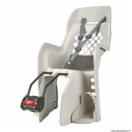 Porte bébé-siège enfant arrière à fixer sur cadre joy crème coussin gris (9 à 22kgs) marque Polisport