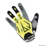 Gants vélo adulte long taille L marque gist shield VTT couleur jaune fluo-gris-noir