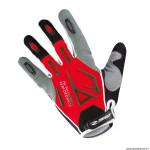 Gants vélo adulte long taille M marque gist shield VTT couleur rouge-gris-noir