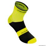 Paire de socquettes été taille 36-39 coton couleur jaune fluo antibacterien - hauteur 18cm