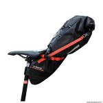 Sacoche de selle vélo z-adventure r11 pour 11 litre noir-rouge étanche fixation velcro (taille L 56cm x L 15cm x 17cm) marque Zéfal