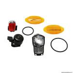 Eclairage vélo à pile kit homologué pour vélo (sans pile)