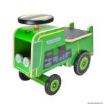 Jouet bois tracteur vert marque Kiddimoto