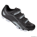 Paire de chaussures VTT taille 40 marque GES vantage couleur noir-gris fixation 3 velcros pour spd