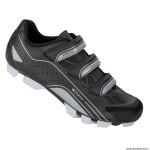 Paire de chaussures VTT taille 42 marque GES vantage couleur noir-gris fixation 3 velcros pour spd