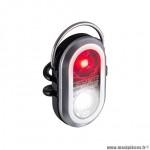 Eclairage vélo à pile avant - arrière microduo couleur argent à led rouge-blanc marque Sigma