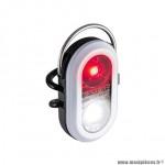 Eclairage vélo à pile avant - arrière microduo couleur blanc à led rouge-blanc marque Sigma