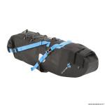 Sacoche de selle vélo noir 10l. étanche fixation velcro (taille L 50cmxtaille L 15cmx15cm)